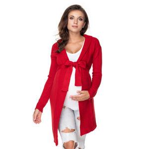 Červený těhotenský svetr 40045