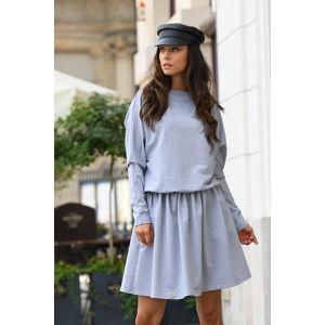 Světle šedé šaty L348