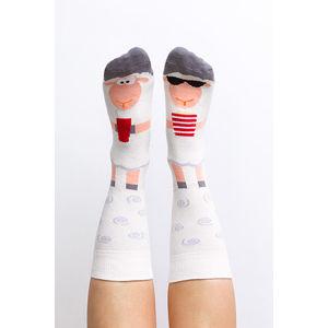 Šedo-bílé ponožky Silence of the Lambs