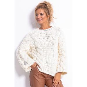 Smetanový pulovr F780
