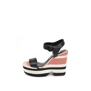 Černo-růžové platformové sandály Giga