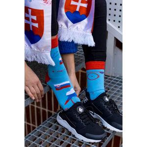 Modro-červené ponožky Icehockey