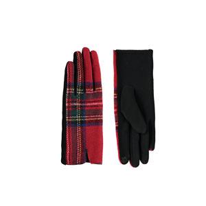 Černo-červené rukavice Adena