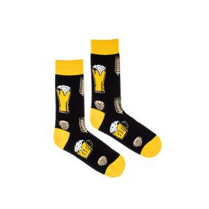 Žluto-černé ponožky Beer