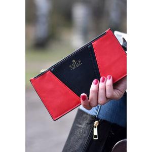 Černo-červená peněženka Mandy