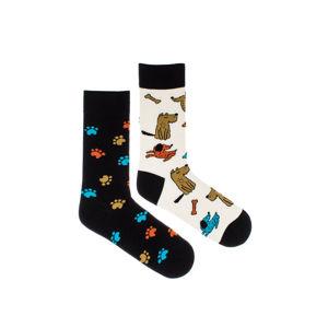 Béžovo-černé ponožky Baw Baw
