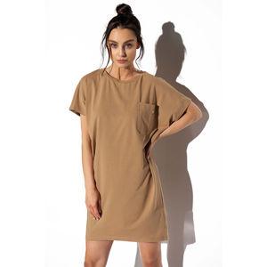 Světle hnědé šaty LN116