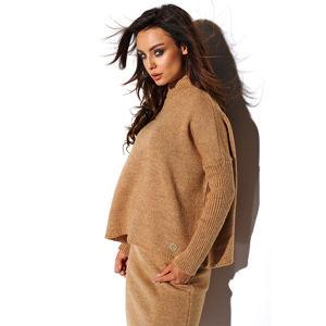 Skořicový set pulovr + sukně LS260