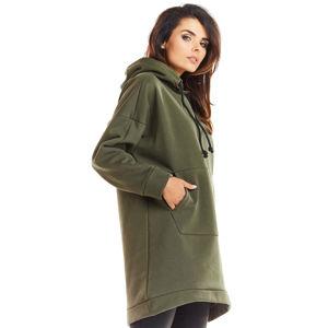 Olivově zelený pulovr M230