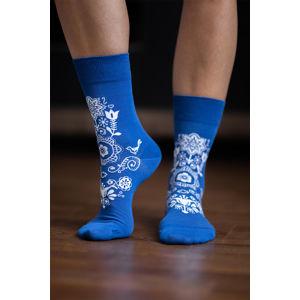 Modré barefoot ponožky Folk