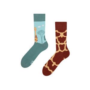 Hnědo-zelené ponožky Giraffe