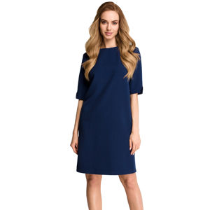 Tmavě modré šaty S113