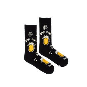 Černé ponožky Beer Hops