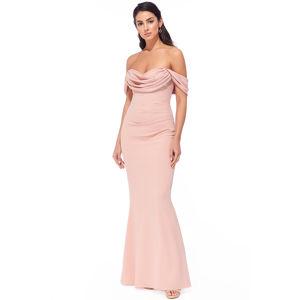 Světle růžové dlouhé šaty Jolene