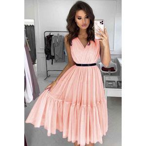 Broskvové šaty Paris