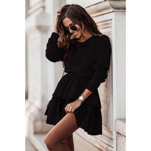 Černý komplet top + sukně Larisa