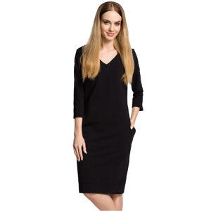 Černé šaty MOE 371