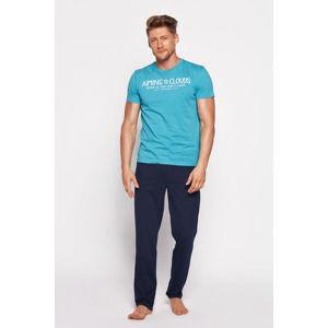 Pánské tyrkysově-modré pyžamo Brant