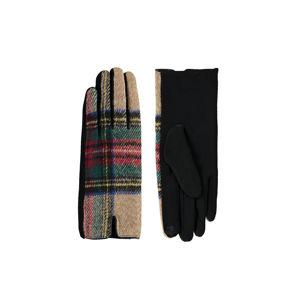 Černo-béžové rukavice Adena