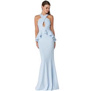 Světle modré dlouhé šaty Lavender