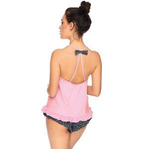 Šedo-růžový krátký pyžamový set Harriet