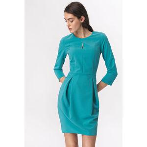 Tyrkysové šaty S142