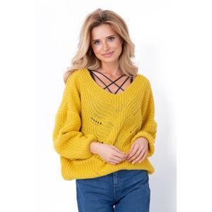 Žlutý pulovr F641