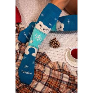 Modré froté ponožky Teddy Hug