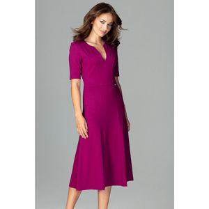 Fuchsiové šaty K478