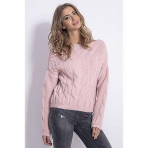 Růžový pulovr F838