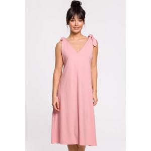 Růžové šaty B148
