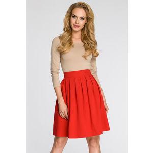 Červená sukně MOE 237
