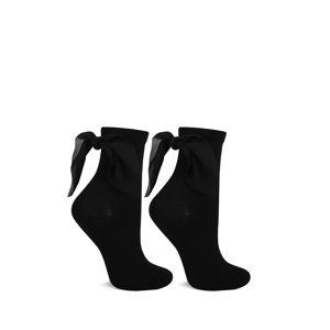 Čierne ponožky s mašľou M22