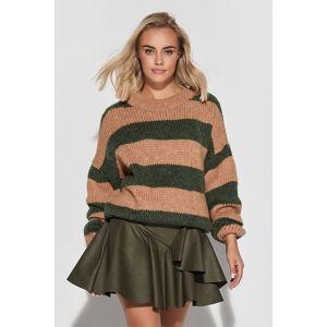 Tmavě zelená krátká sukně z eko kůže M614