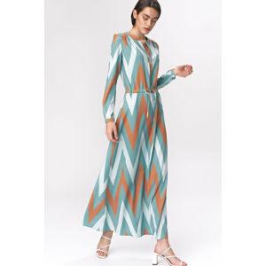 Vícebarevné vzorované šaty S140