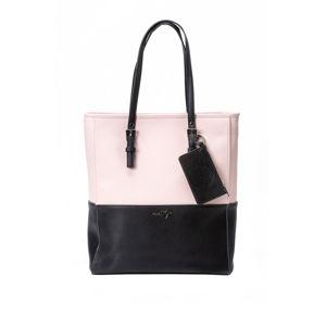 Černo-růžová kabelka na řameno Slima 3 C