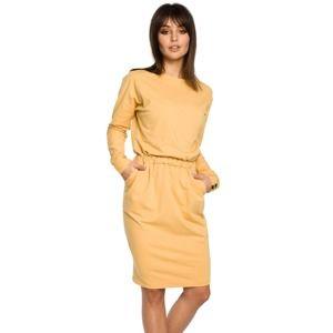 Žluté šaty BE 060