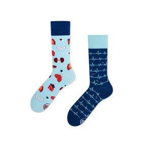 Modré vzorované ponožky Dr Sock