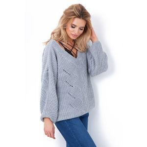 Šedý pulovr F641