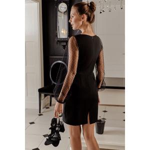 Černé šaty K032