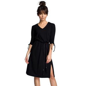 Černé šaty BE 068