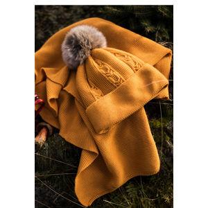 Žlutá čepice Elin
