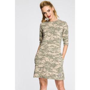 Zeleno-béžové šaty MOE 236
