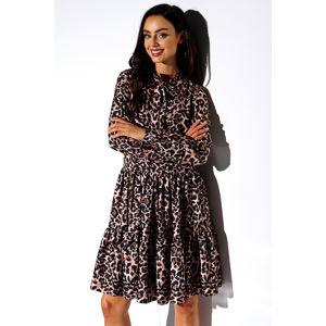Hnědé leopardí šaty LG515