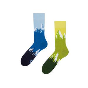Modro-zelené ponožky Mountain