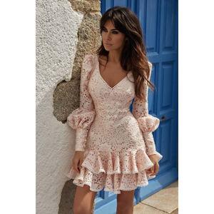 Růžové šaty Loretta
