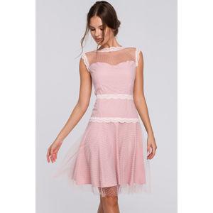 Světle růžové šaty K030