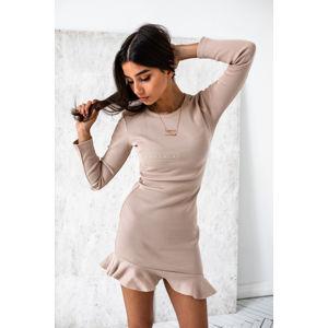 Béžové volánové šaty Dream