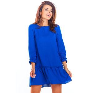 Modré šaty A310