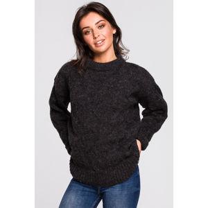 Tmavě šedý pulovr BK038